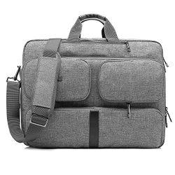 CoolBELL Convertible Laptop Bag Backpack Messenger Bag Shoulder Bag Business Briefcase Multi-Fun ...