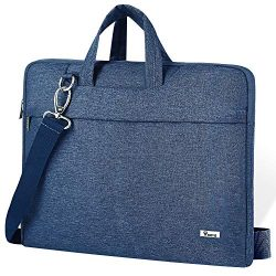 Voova Laptop Shoulder Bag,Slim Portable Sleeve Carrying Case with Strap Compatible with 17 17.3  ...