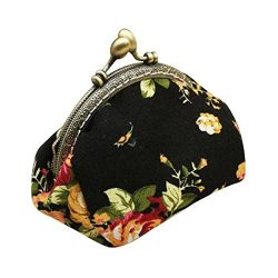 ❤️ Sunbona Coin Purses for Women Lady Retro Vintage Flower Small Wallet Hasp Purse ...