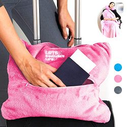 4 in 1 Travel Blanket – Lightweight, Warm and Portable. The Latest Small Compact Airplane  ...