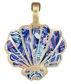 Lilly Pulitzer Women's Leatherette Luggage Tag with Durable Strap, Scale Up