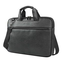 PYYZON Leather Briefcase 15.6 Inch Laptop Handbag Messenger Business Travel Shoulder Bags for Men