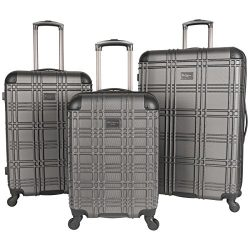 Ben Sherman Nottingham 3-Piece Lightweight Hardside 4-Wheel Spinner Travel Luggage Set: 20″ ...
