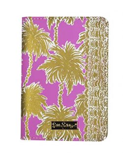Lilly Pulitzer Passport Cover / Holder, Metallic Palms