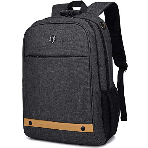 Computer Backpack,Travel Laptop Backpack with Lock Anti Theft Durable, Water Resistant College S ...
