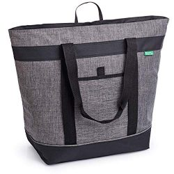 Jumbo Insulated Cooler Bag (Charcoal) with HD Thermal Foam Insulation – Premium Quality In ...