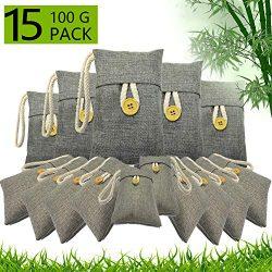 Activated Bamboo Charcoal Air Purifying Bag Closet Shoe Deodorizer Car Air Freshener Purifier Fi ...