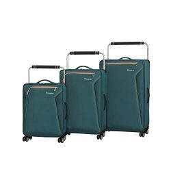 it luggage World's Lightest Accent 8 Wheel 3 Piece Set, Mediterranean Green