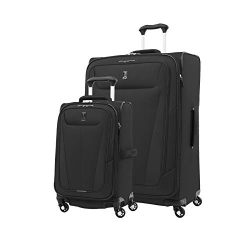 Travelpro Maxlite 5 Lightweight 2-piece Set(21″,29″) Expandable Softside Luggage Bla ...