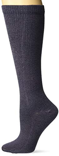 Dr. Scholl's Women's Travel Knee High Socks with Graduated Compression, Denim Heathe ...