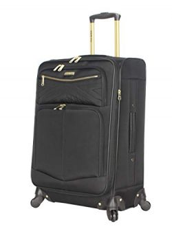 Steve Madden Designer Luggage Collection – Lightweight 24 Inch Expandable Softside Suitcas ...