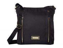 Calvin Klein Belfast Nylon Vertical Front Zips Messenger, Black/Gold
