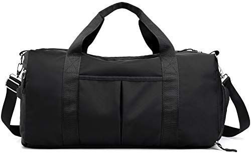 Sports Gym Bag Travel Duffel Bags with Dry Wet Pocket & Shoes Compartment for Women and Men  ...