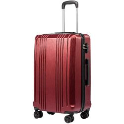Coolife Luggage Suitcase PC+ABS with TSA Lock Spinner Carry on Hardshell Lightweight 20in 24in 2 ...