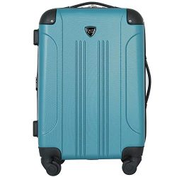 Travelers Club 20″ Chicago Expandable Spinner Carry-On Luggage, Teal