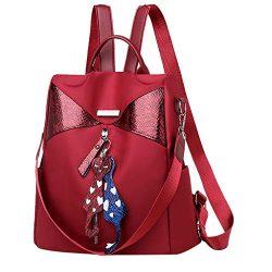 DDKK bags New Hot 2019 Styleish Women's Fashion Waterproof Nylon Backpack with Tassel-Anti ...