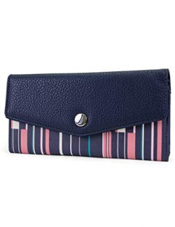 Nautica Money Manager RFID Women's Wallet Clutch Organizer (Ribbon Stripe)