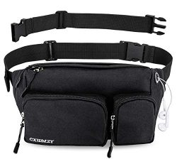 Fanny Pack for Women & Men Waist Bag Hip Bum Bag, Strap Extension Large Capacity Easy Carry  ...