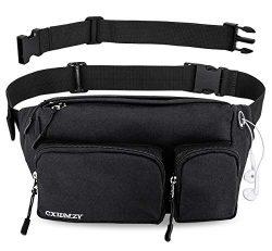 Fanny Pack for Women & Men Waist Bag Hip Bum Bag, Strap Extension Large Capacity Easy Carry  ...