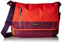 Vera Bradley Women's Lighten Up Laptop Messenger Crossbody Bag, Hot Lava, One Size