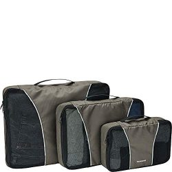 Samsonite 3 Piece Packing Cube Set Travel Tote, Charcoal, One Size