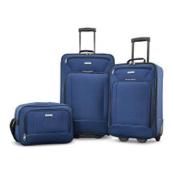 American Tourister Fieldbrook XLT Softside Luggage, Navy, 3-Piece Set