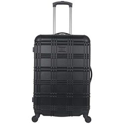 Ben Sherman Luggage Nottingham 24″ Embossed PAP 4-Wheel Luggage (Black)
