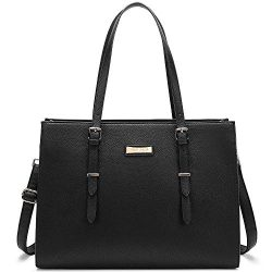 BUG Laptop Tote Bag Laptop Bag for Women Leather 15.6 Inch Large Tote Waterproof Lightweight Han ...