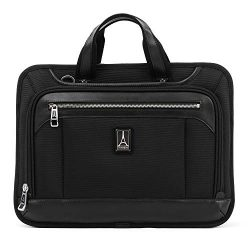 Travelpro Luggage Platinum Elite 16″ Expandable Business Briefcase, Shadow Black, One Size