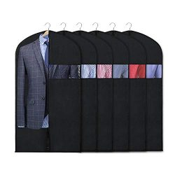 Zilink Garment Bag Suit Bags for Men Storage 40-inch Suit Covers for Women with Clear Window and ...