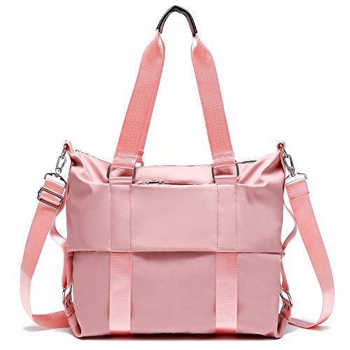 Water Repellent Nylon Shoulder Bag Handbag Tablet 14 Inch Laptop Tote as Travel Work and School Bag