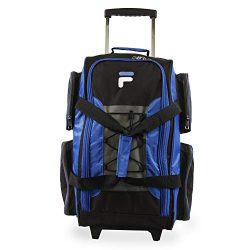 Fila 22″ Lightweight Carry On Rolling Duffel Bag,  Blue,  One Size