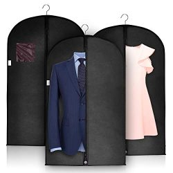 Garment Bags Suit Cover for Travel and Clothing Storage Bag by Hullster&Co|Jersey, Dress, Sh ...