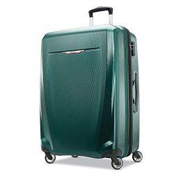 Samsonite Winfield 3 DLX Hardside Luggage, Emerald, Checked-Large