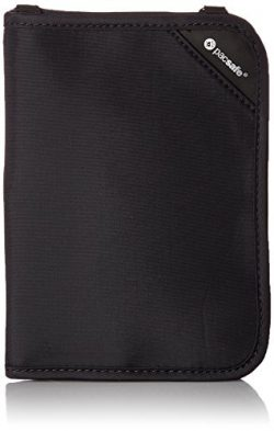 Pacsafe Rfidsafe V150 Anti-Theft RFID Blocking Compact Passport Wallet, Black