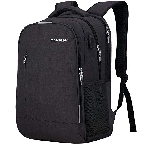 Canway Travel Laptop Backpack, Large College School Computer Bag with USB Charging Port Fits 15. ...