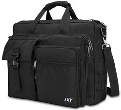 Men's Military Laptop Messenger Bag 15.6 Inch, LXY Laptop Briefcase Business Crossbody Bag ...