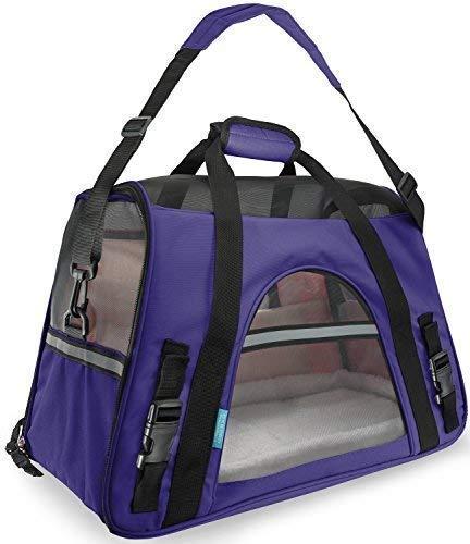 Paws & Pals Airline Approved Pet Carrier – Soft-Sided Carriers for Small Medium Cats a ...