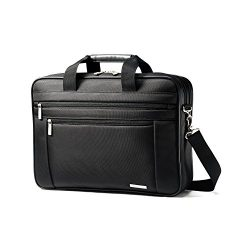 Samsonite Classic Business Perfect Fit Two Gusset Laptop Bag – 15.6″ Black