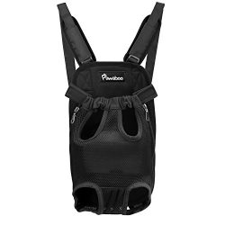 PAWABOO Pet Carrier Backpack, Adjustable Pet Front Cat Dog Carrier Backpack Travel Bag, Legs Out ...