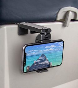 Universal Airplane in Flight Phone Mount. Handsfree Phone Holder with Multi-Directional Dual 360 ...