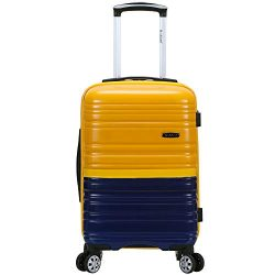 Rockland hardside Polycarbonate Carry-on Luggage, Navy