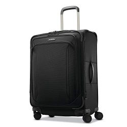 Samsonite Lineate Softside Luggage, Obsidian Black, Checked-Medium