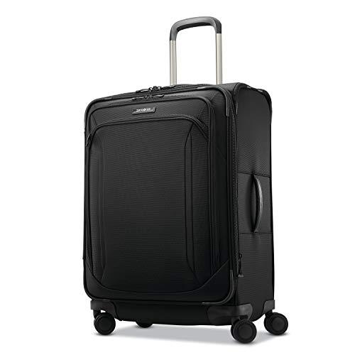 Samsonite Lineate Softside Luggage, Obsidian Black, Checked-Medium