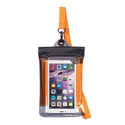 Travelon Floating Waterproof Smart Phone/Digital Camera Pouch, Orange