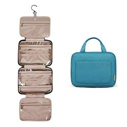 BAGSMART Toiletry Bag Travel Bag with hanging hook, Water-resistant Makeup Cosmetic Bag Travel O ...