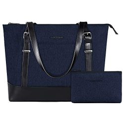 KROSER Laptop Tote Bag 15.6 Inch Large Shoulder Bag Lightweight Water-Repellent Women Stylish Ha ...