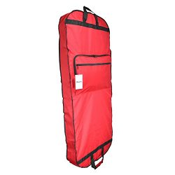 DALIX 60″ Professional Garment Bag Cover Suits Dresses Gowns Foldable Shoe Pocket in Red