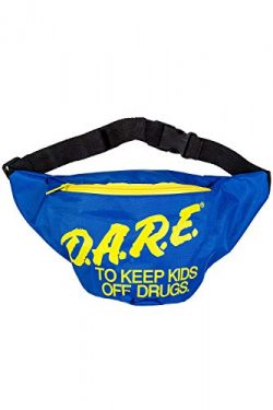 Neon Retro DARE Fanny Pack Waist Bags with Adjustable Waist Straps (Neon Blue)