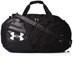 Under Armour Unisex Undeniable Duffle 4.0 Gym Bag, Black (001)/Silver, Large